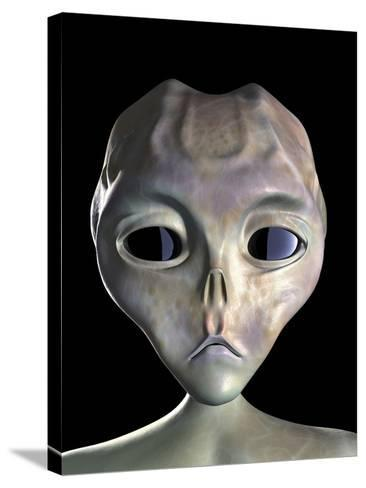 Alien-Roger Harris-Stretched Canvas Print