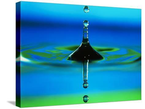 Water Drop-Adam Hart-Davis-Stretched Canvas Print