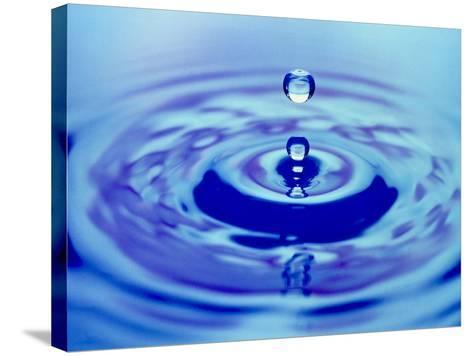 Water Drop Impact-Adam Hart-Davis-Stretched Canvas Print