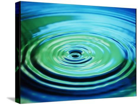 Multiple Ripples From a Water Drop-Adam Hart-Davis-Stretched Canvas Print