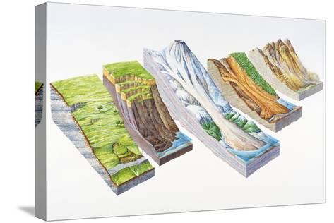 Landslide Types-Gary Hincks-Stretched Canvas Print