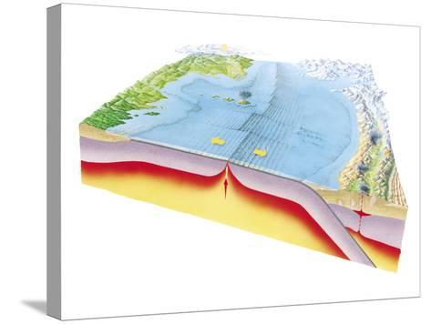 Plate Tectonics-Gary Hincks-Stretched Canvas Print