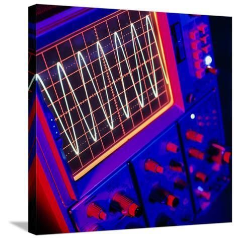 View of Oscilloscope Showing a Voltage-time Trace-Tek Image-Stretched Canvas Print