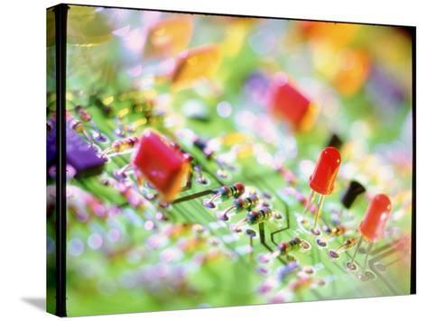 Close-up of An Electronic Circuit Board.-Tek Image-Stretched Canvas Print