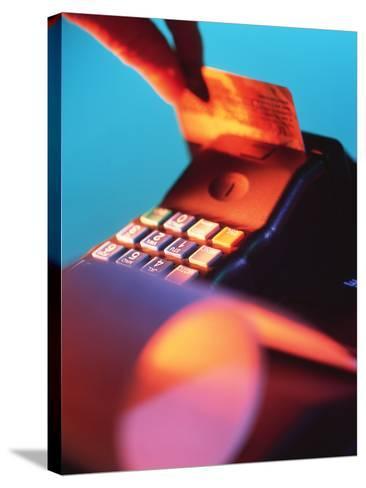 Credit Card-Tek Image-Stretched Canvas Print