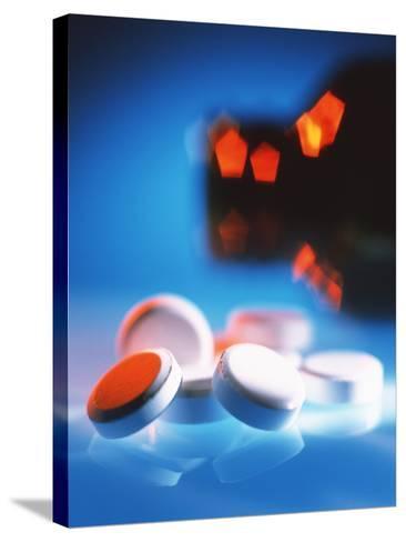 Pills-Tek Image-Stretched Canvas Print