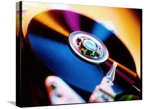 View of a Computer Hard Disk Memory Mechanism-Tek Image-Stretched Canvas Print