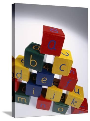 Alphabet Toys-Tek Image-Stretched Canvas Print