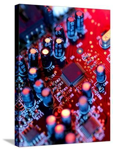 Circuit Board-Tek Image-Stretched Canvas Print