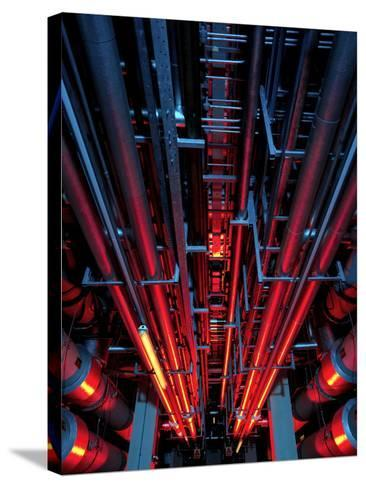 Air Conditioning Pipes-Tek Image-Stretched Canvas Print