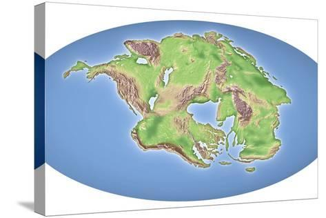 Continental Drift After 250 Million Years-Mikkel Juul-Stretched Canvas Print