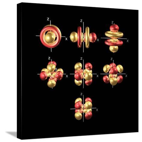 5f Electron Orbitals, Cubic Set-Dr. Mark J.-Stretched Canvas Print