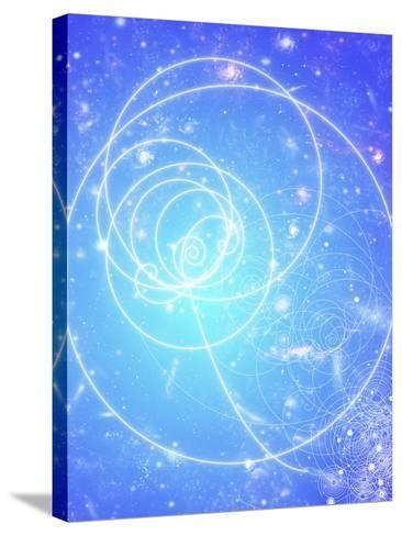 Particle Tracks on Galaxies-Mehau Kulyk-Stretched Canvas Print
