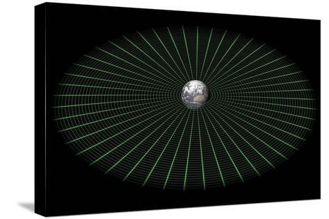 Earth's Gravity Well, Artwork-Mikkel Juul-Stretched Canvas Print