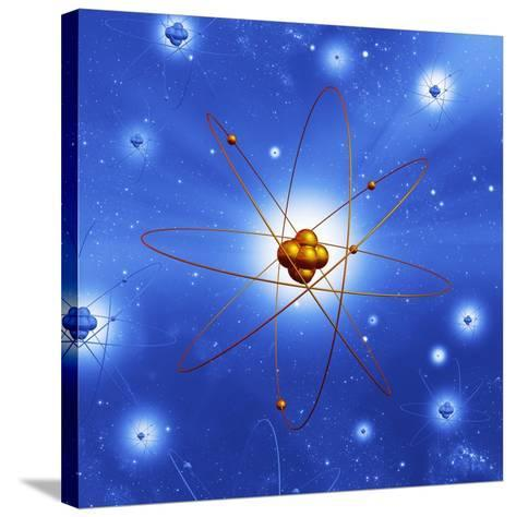 Atomic Structure, Artwork-Mehau Kulyk-Stretched Canvas Print