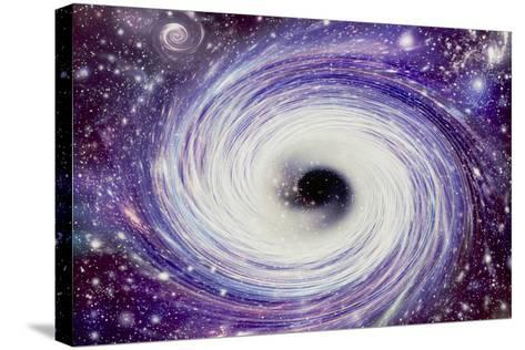 Artwork of a Black Hole-Mehau Kulyk-Stretched Canvas Print