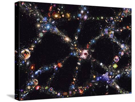 Galaxy Distribution, Computer Artwork-Mehau Kulyk-Stretched Canvas Print