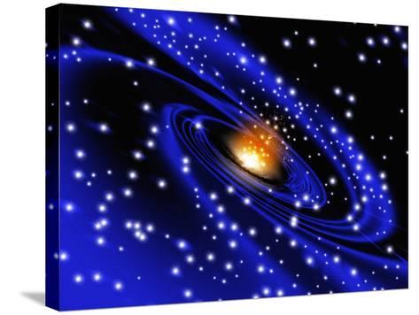 Galaxy Formation, Computer Artwork-Mehau Kulyk-Stretched Canvas Print