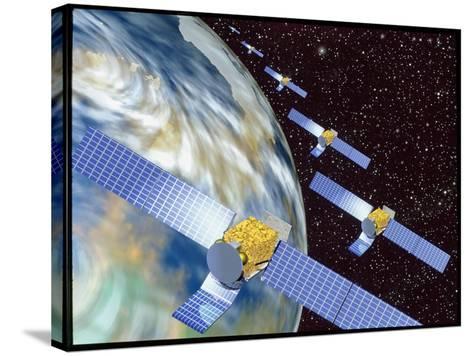 Communication Satellites-Mehau Kulyk-Stretched Canvas Print