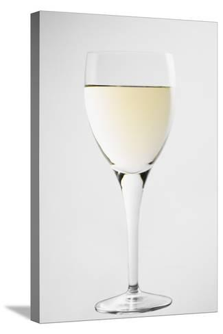 Glass of White Wine-Lawrence Lawry-Stretched Canvas Print