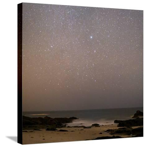 Sirius In Canis Major Over a Beach-Laurent Laveder-Stretched Canvas Print