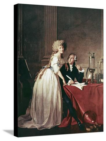 Lavoisier And His Wife, 1788-Science Photo Library-Stretched Canvas Print