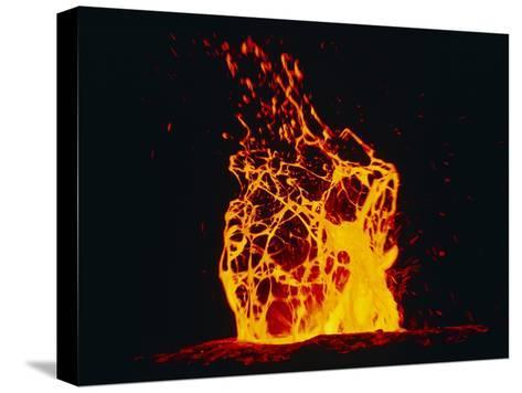 Lava Flow From Kilauea Volcano-Brad Lewis-Stretched Canvas Print