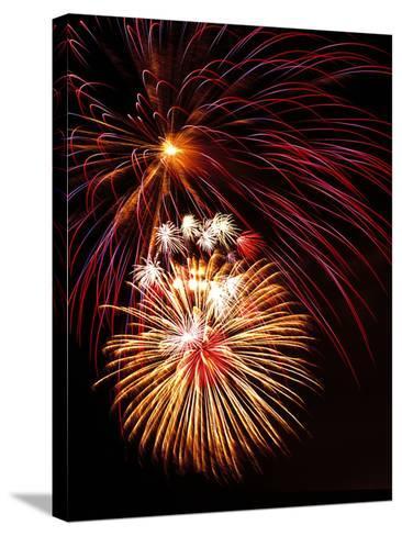 Fireworks Display-Brad Lewis-Stretched Canvas Print