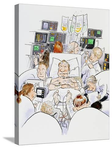 Caricature of An Intensive Care Ward-David Gifford-Stretched Canvas Print