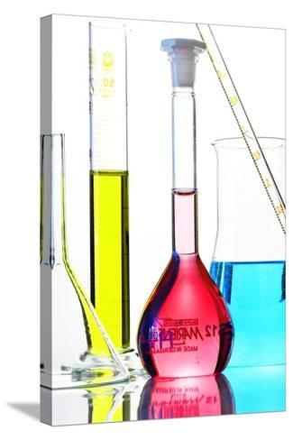 Chemistry Glass-ware-Sigrid Gombert-Stretched Canvas Print