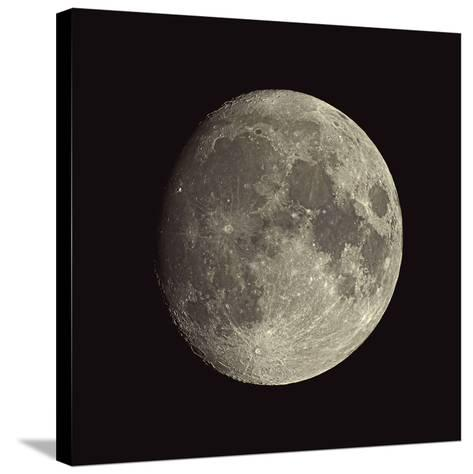 Waxing Gibbous Moon-Eckhard Slawik-Stretched Canvas Print