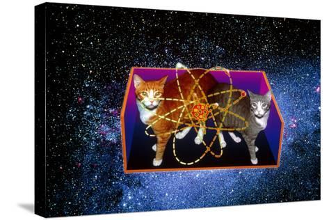 Art of Schrodinger's Cat Experiment-Volker Steger-Stretched Canvas Print