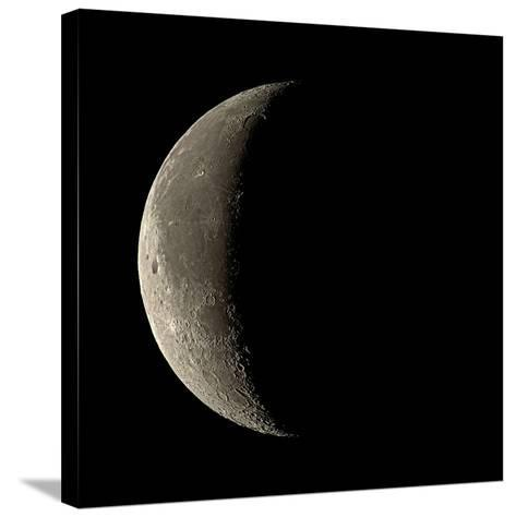 Waning Crescent Moon-Eckhard Slawik-Stretched Canvas Print