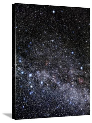 Cassiopeia And Cepheus Constellations-Eckhard Slawik-Stretched Canvas Print