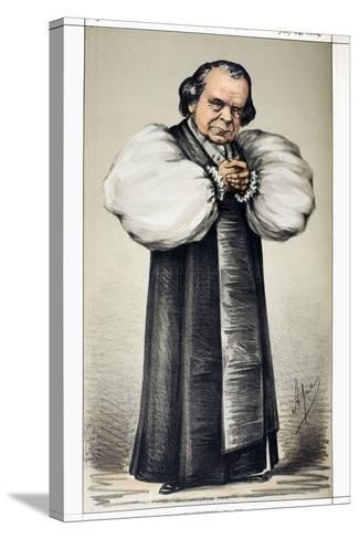 "1869 \Soapy Sam\"" Wilberforce Vanity Fair""-Paul Stewart-Stretched Canvas Print"