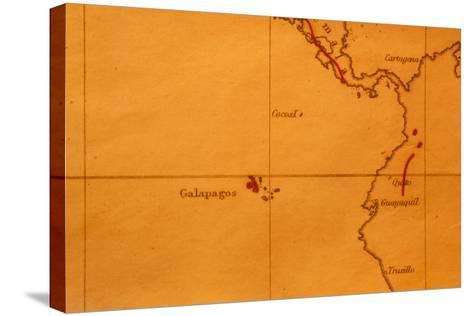 The Galapagos Islands Seen on One of Darwin's Maps-Volker Steger-Stretched Canvas Print