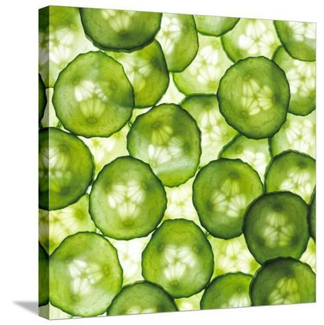 Cucumber Slices-Mark Sykes-Stretched Canvas Print