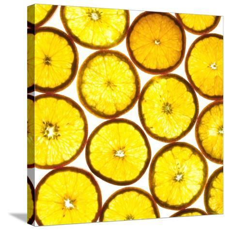 Orange Slices-Mark Sykes-Stretched Canvas Print