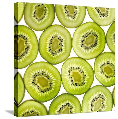 Kiwi Slices-Mark Sykes-Stretched Canvas Print