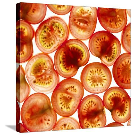 Tomato Slices-Mark Sykes-Stretched Canvas Print