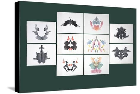 Rorschach Inkblot Test-Sheila Terry-Stretched Canvas Print