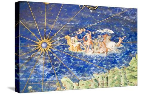 Detail of 16th Century Map of Liguria-Sheila Terry-Stretched Canvas Print