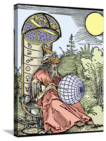 Durer's Astronomer, 1504-Sheila Terry-Stretched Canvas Print