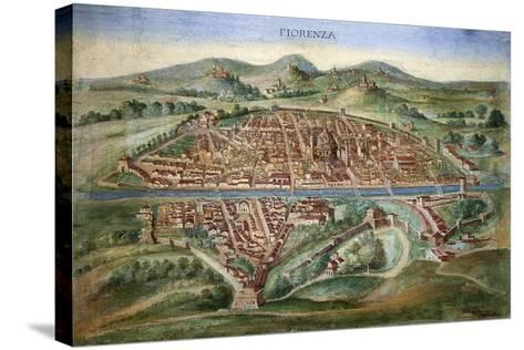 16th Century Plan of Florence-Sheila Terry-Stretched Canvas Print