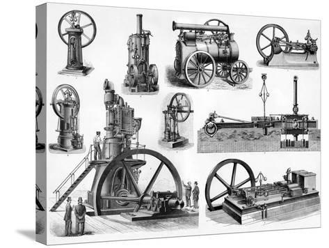 19th Century Steam Engines-Sheila Terry-Stretched Canvas Print