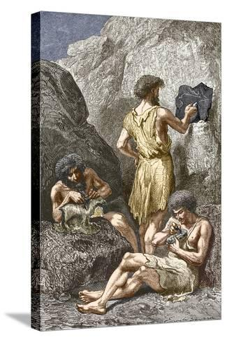 Stone Age Artists-Sheila Terry-Stretched Canvas Print