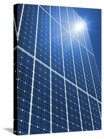 Solar Panels In the Sun-Detlev Van Ravenswaay-Stretched Canvas Print