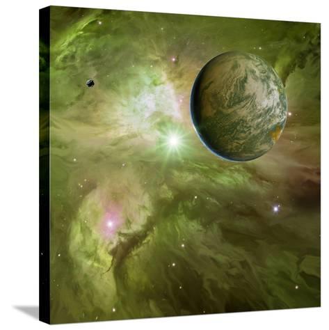 Earthlike Planet In Orion Nebula, Artwork-Detlev Van Ravenswaay-Stretched Canvas Print