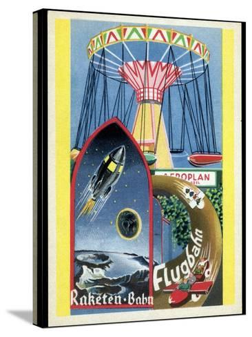 Viennese Fun Fair, Historical Post Card-Detlev Van Ravenswaay-Stretched Canvas Print