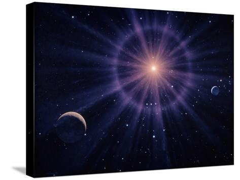 Art of Betelgeuse As Supernova-Joe Tucciarone-Stretched Canvas Print